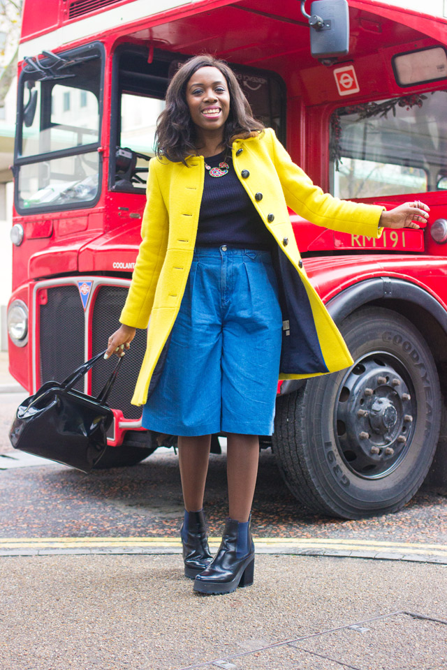How to wear culottes in Winter