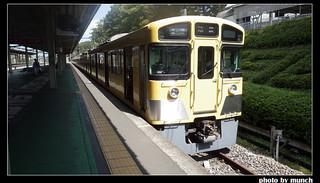 可愛的狹山線電車。圖片來源:munch