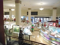 Cosmetic Counters in fine stores
