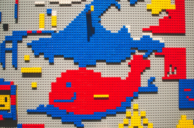 Some lego creations at the Stedelijk Museum in Amsterdam, Netherlands.