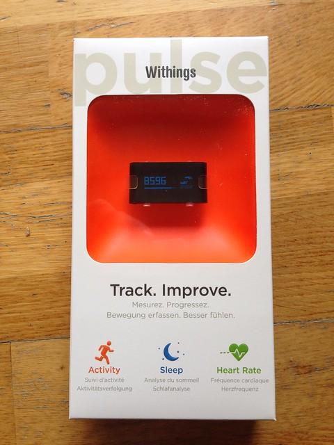 Packaging du withings pulse