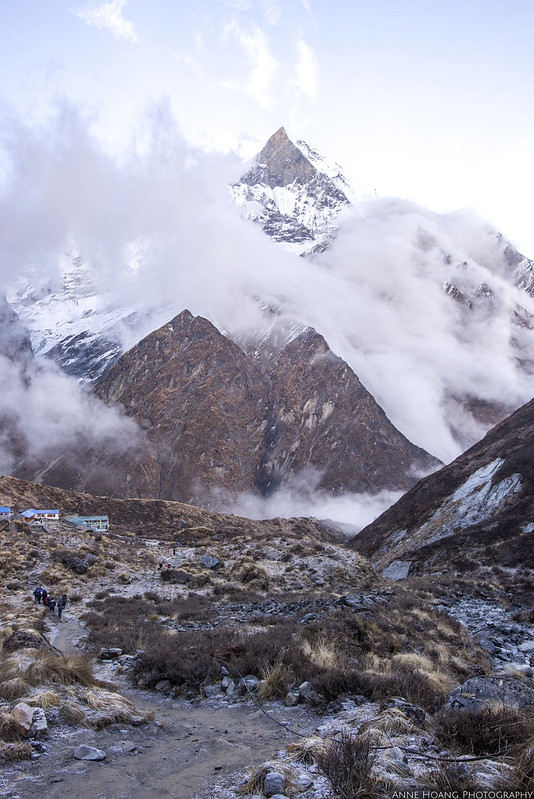 clouds over Annapurna Base Camp