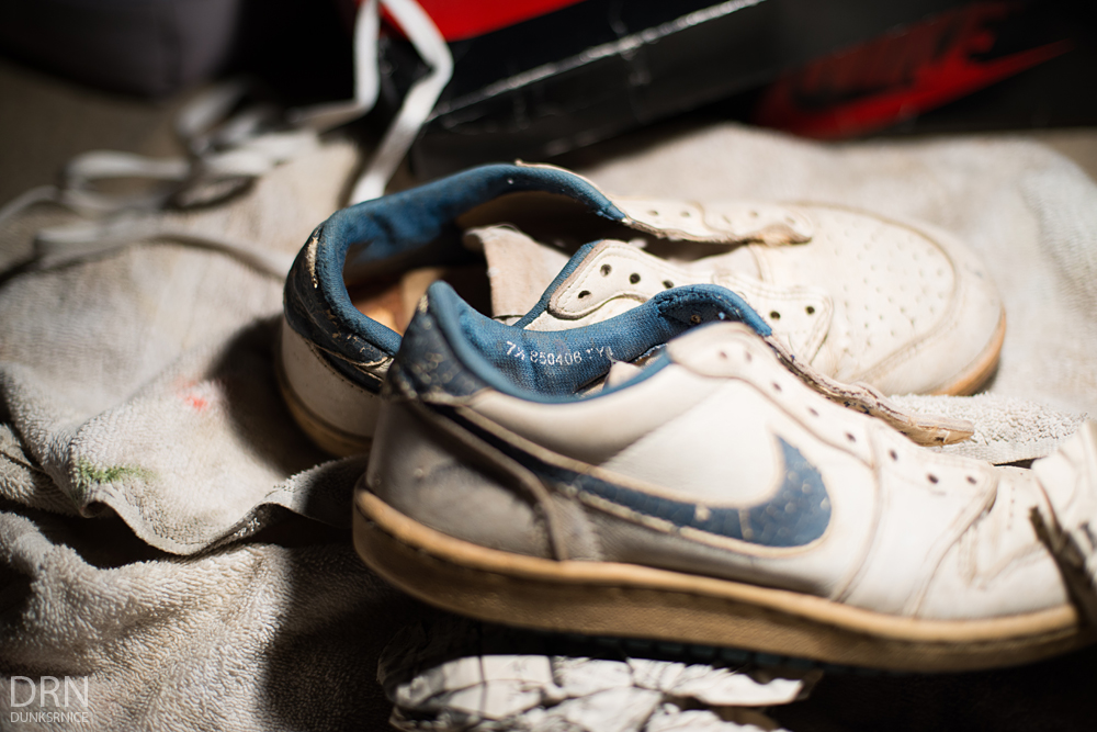 1985 White/Metallic Blue Low I's.