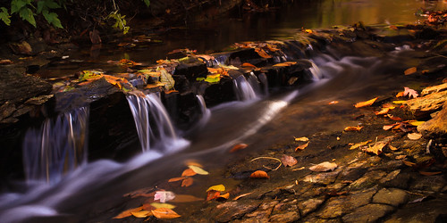 autumn trees fall water georgia waterfall stream panoramic cascade gibbsgarden