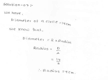 RD SHARMA class_6 solutions  14.Circles  Ex_14.1 Q 7