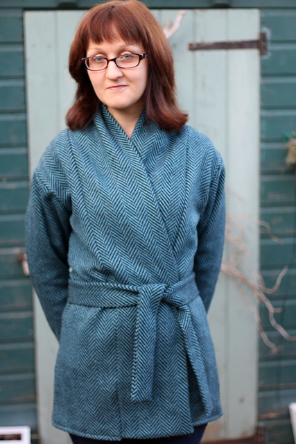 Blue Wool Blend Oslo Cardigan