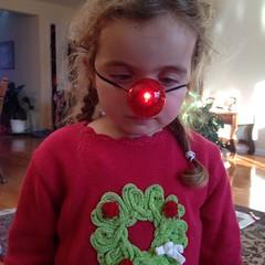 Ashlin the red-nosed #reindeer
