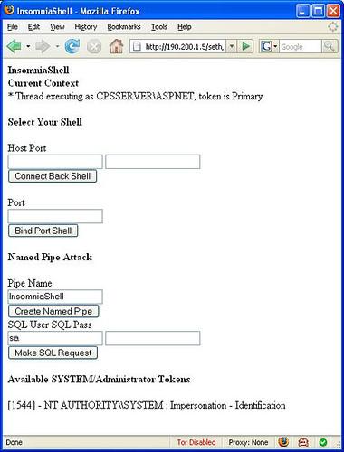 InsomniaShell – ASP NET Reverse Shell Or Bind Shell - Darknet