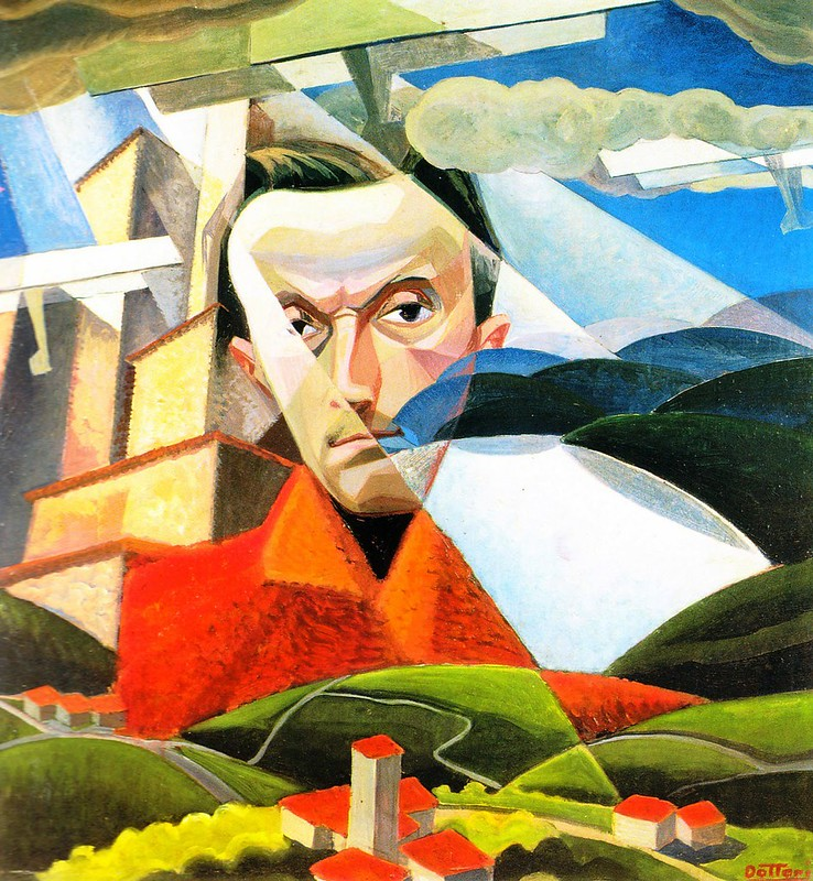 Gerardo Dottori, Self Portrait, 1928