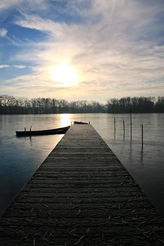 lake sunrise dock flanders donkmeer berlare overmere