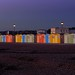 Small photo of The Beach Huts, Seaford, at Dusk