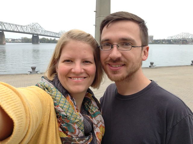 Matt and I in front of Ohio River