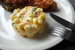 Fried Carp w/ Potato Salad - Smažený kapr s bram…