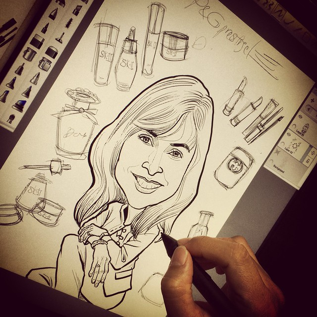 digital boss caricature for P&G