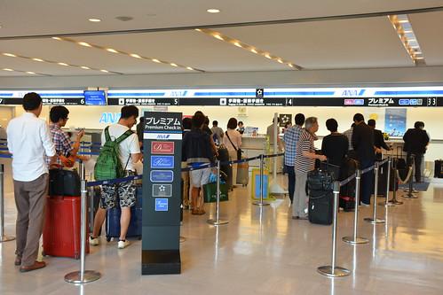 成田空港第一ターミナル:国内線カウンター
