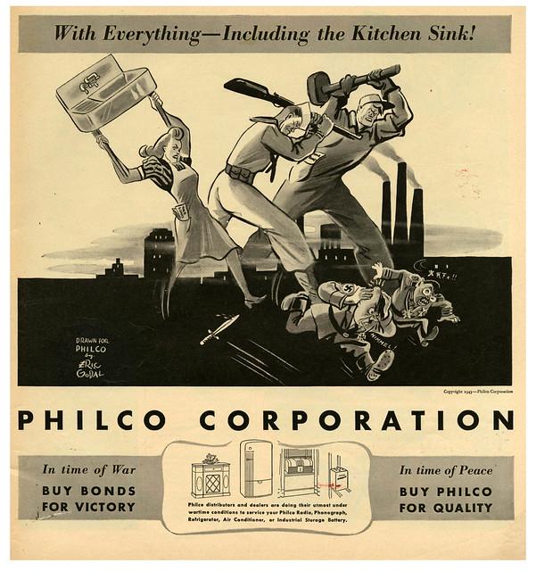 Philco Corporation - illustration by Eric Godal - 1943