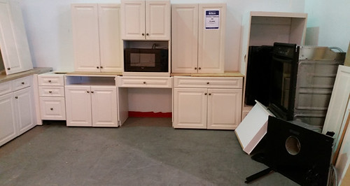 White Cabinet Set with Appliances $1600