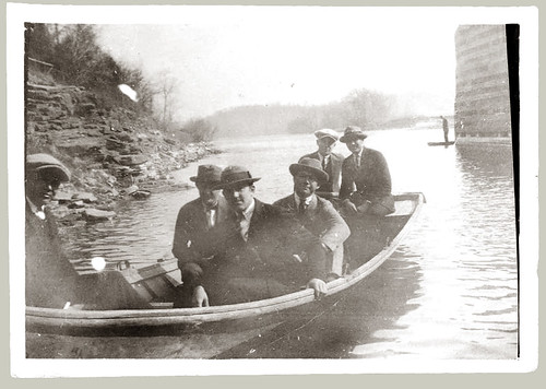 Six men in a boat