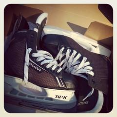 Look at my new things!!!!! #skates #Ihaveskates woohooooo #hockeyfangirlinggonetoofar