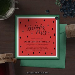 Watermelons make me think of summer :watermelon:You can find this card at @greenvelope #digital #invitations