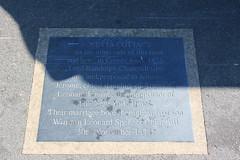 Photo of Randolph Churchill and Jennie Jerome grey plaque