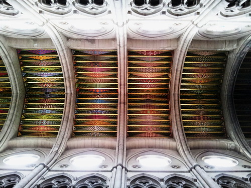 Colorful ceiling pattern