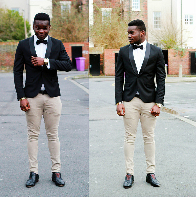 mens-tuxedo-blazer-with-cream-skinny-jeans, -mens-skinny-jeans, mens-cream-skinny-jeans, -black-brogues, men's-style