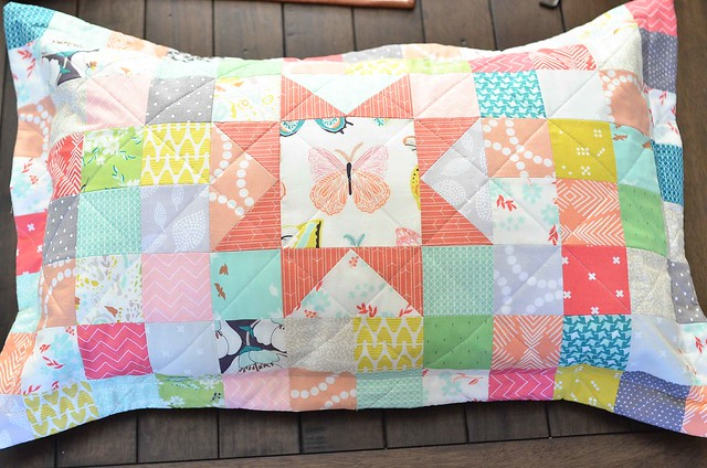 Quilt Pillow Sham Pattern: Winged Pillow Sham   Kitchen Table Quilting,