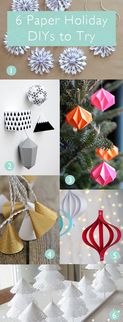 6 Paper Holiday DIYs to Try | www.vitaminihandmade.com