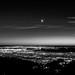 #Berkeley #Noir 2 - Crescent Moon, Venus & Mars set over San Francisco Bay