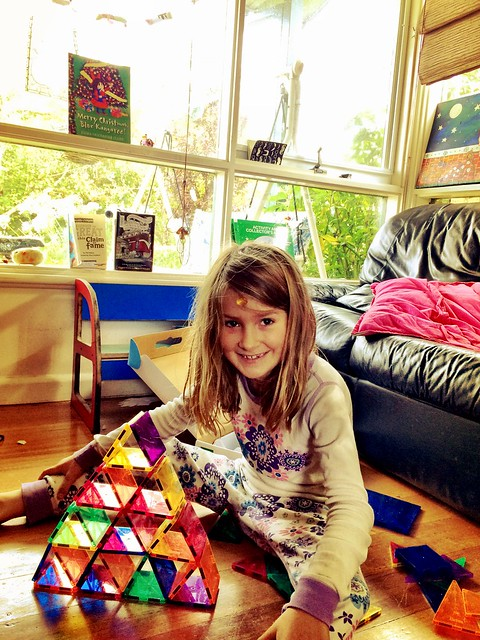Zoe Vs Picasso Tiles: Christmas 2014