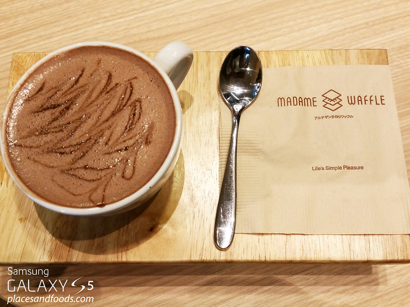 madame waffle mid valley hot belgian chocolate