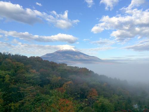 エクシブ山中湖から見える富士山