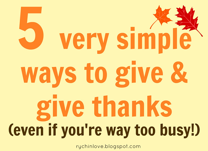 5 Ways to Give and Give Thanks
