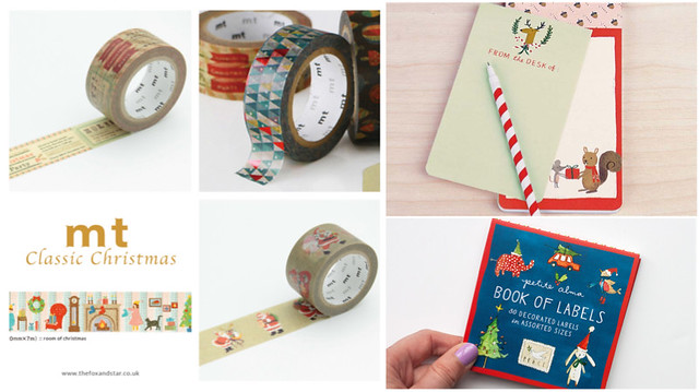 christmas stationery and tapes