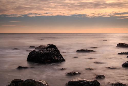 ocean longexposure morning sky ny newyork seascape water rock clouds canon eos rocks january longisland atlantic montauk 2015 montaukpoint 70d efs18135stm