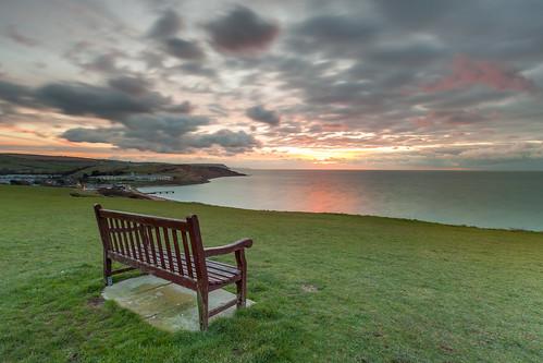 sunrise bench dorset weymouth iphone canon1635f28lusm bowleaze canon5dmkii