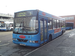 Arriva Network Harlow Volvo B6LE/Wright Crusader-2 V256HBH (3256) Harlow Bus Station 05/12/14