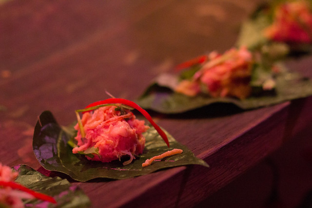 DaiLo - Smoked Giggie Trout on Betel Leaf