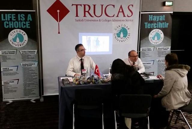 Almanya'daki Türk öğrenciler Üsküdar Üniversitesine yoğun ilgi gösterdi.