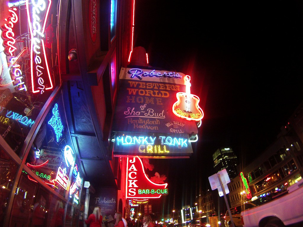 Broadway at Night, Nashville, Tenn., Nov. 20, 2014