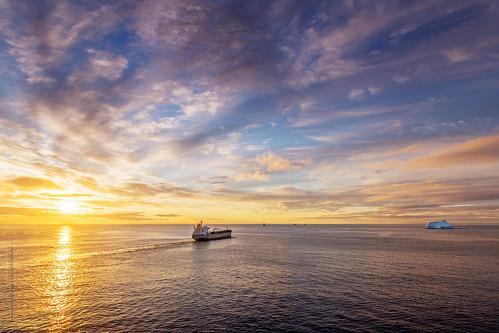 ocean morning sea summer cloud canada ice sunrise newfoundland boat spring nikon ship iceberg nfld atlanticcanada d600 newfoundlandandlabrador vassel nikond600 stjohn's