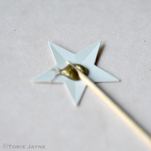Making star cake toppers 1