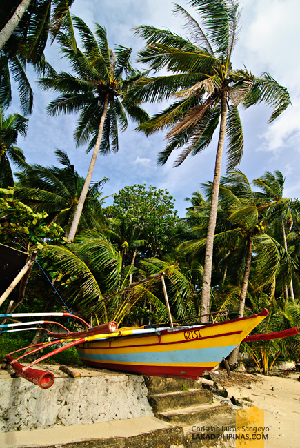 Local Fishing Boat at Guisi Beach in Guimaras