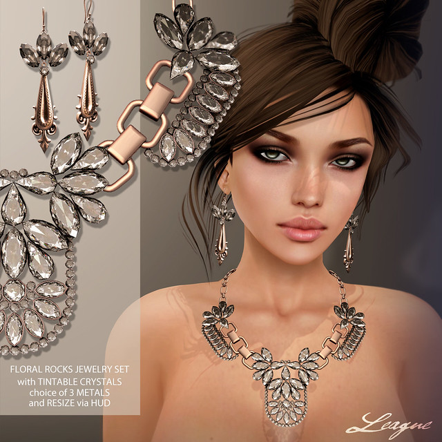 League Floral Rocks Jewelry Set