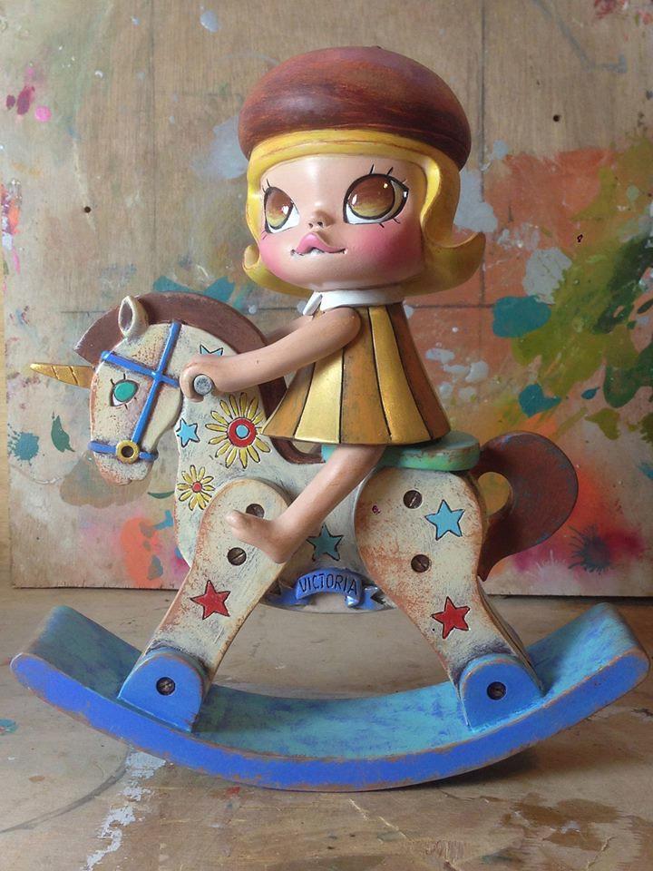 TOY SOUL 2014【Kennyworks】D10 攤位 木馬黃金童年版 vs. 茉莉小畫家