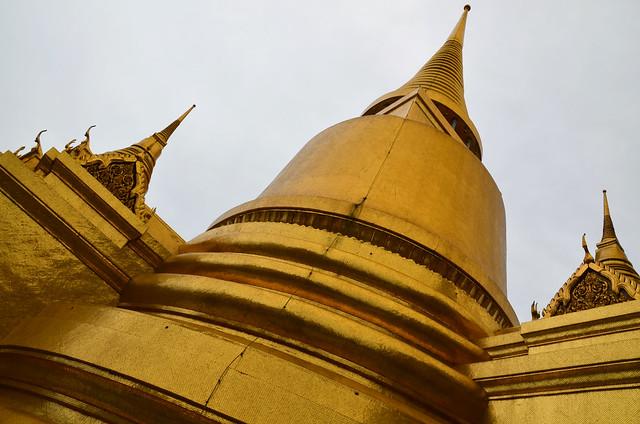 Estupas doradas del Gran Palacio de Bangkok