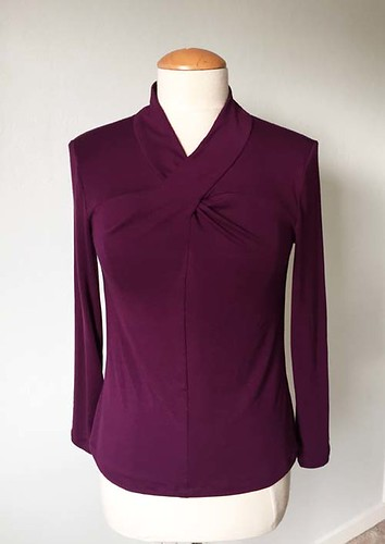 purple twist front top