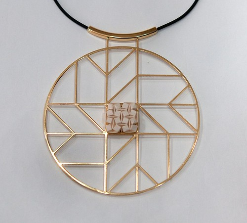 Folded Paper and Metal Necklace by Ilan Garibi