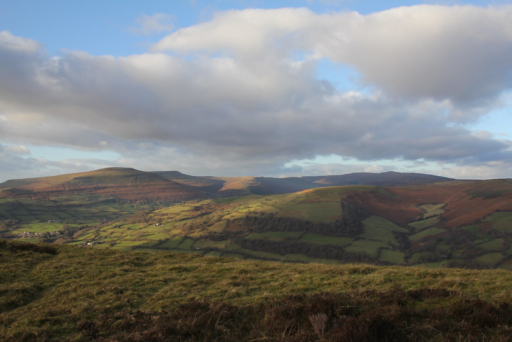 Black Mountains, brecon beacons, pen cerrig calch, sugar loaf, table mountain, ysgyryd fawr
